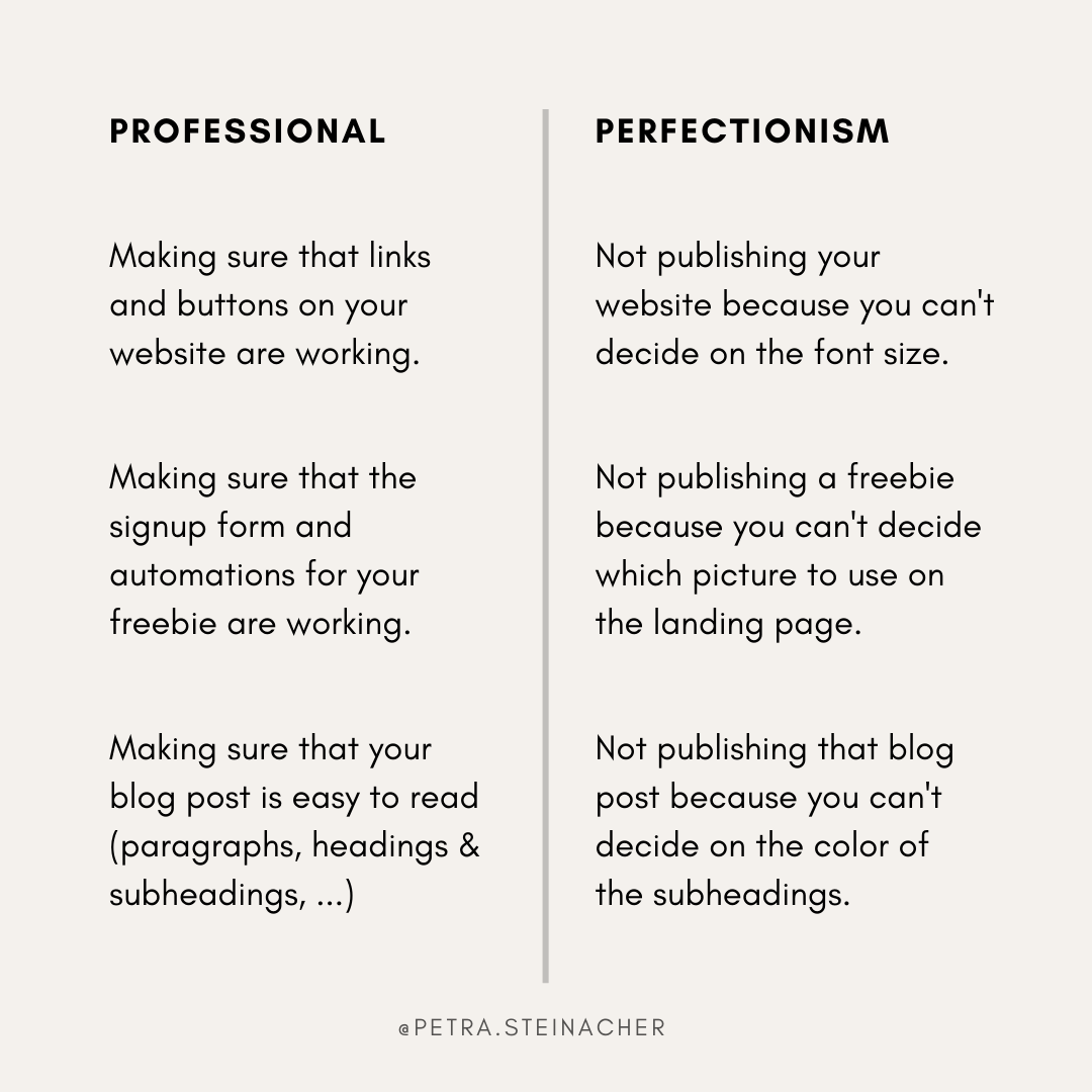 How To Stop Perfectionism Affecting Your Productivity